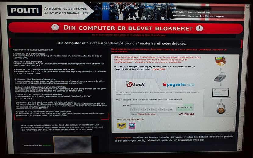 Din PC er blevet blokeret ! - Foto Start